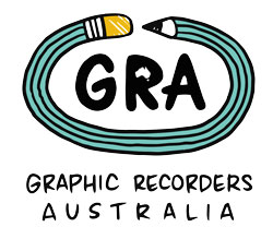 The words GRA, with a pencil and a map of Australia